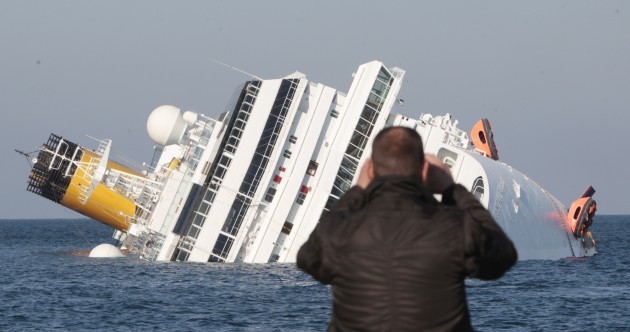In pictures: the capsized Costa Concordia