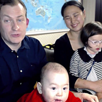 The family at the centre of THAT viral interview are back for another one