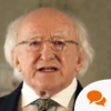 Michael D Higgins: 'St Patrick's own life story was one of hardship and migration'