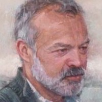This portrait of Graham Norton was unveiled in the National Gallery today
