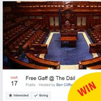 Someone set up a Facebook event for a session in the Dáil because all the politicians are away