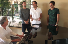 Roger Federer and Novak Djokovic teamed up to make this music video