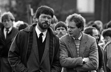 'He didn't go to war, war came to him': Gerry Adams pays tribute to ally and friend Martin McGuinness