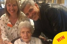 George Clooney surprised an elderly fan by turning up at her nursing home on her 87th birthday