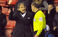 Figueroa handball leads Mancini to wave his imaginary card