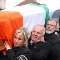 Coffin of Martin McGuinness carried to his home in Derry
