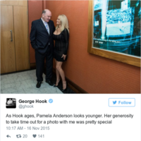 Every single mortifying tweet George Hook has ever sent about Pamela Anderson
