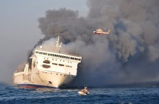 Baltic ferry blaze provokes fuel leak fears