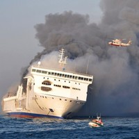 Baltic ferry blaze provokes fuel leak fears