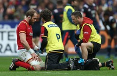 Lions injury scare for Alun Wyn Jones as Wales captain ruled out for 'initial' six weeks