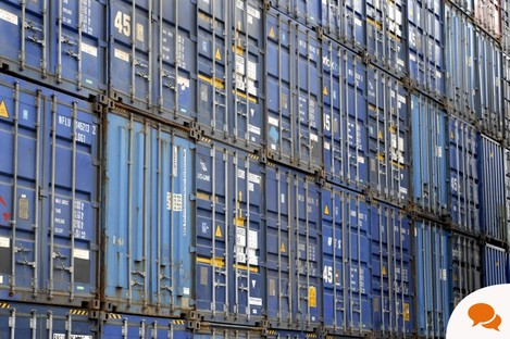 Containers at Dublin Port