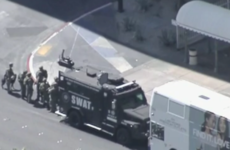 One dead, one wounded after gunman barricades himself into bus in Las Vegas