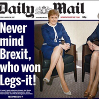 May and Sturgeon discuss future of UK - 'moronic' Daily Mail headline focuses on their legs