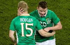 Ex-Dundalk stars Daryl Horgan and Andy Boyle made their senior Ireland debuts this evening