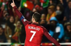 Ronaldo moves into top 10 international goalscorers with this effort against Sweden
