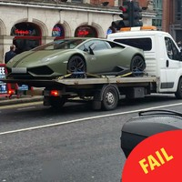 Is this Conor McGregor's swish Lamborghini getting towed in Dublin?