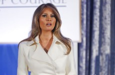 Melania Trump makes rare public speech calling for women's empowerment