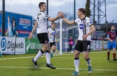 Dundalk prove too strong for 10-man Drogs in action-packed Louth derby