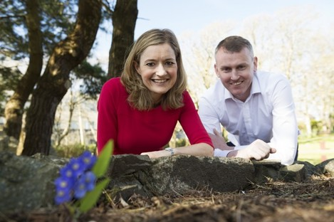 Dr Ruth Smith and Dr Noel Howard in the Circle of Life Garden in Salthill
