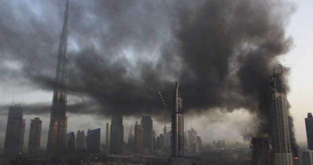 Large fire breaks out near world's tallest building in Dubai