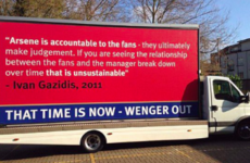 Some Arsenal fans went to exceptional lengths to protest against Arsene Wenger today