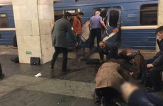 Terror investigation launched after 10 die in blast in St Petersburg underground system