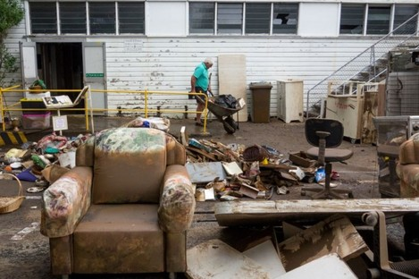 The cleanup begins in central Lismore