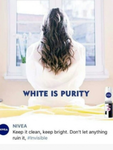 Nivea pulls 'racist' advert that bore the message 'white is purity'