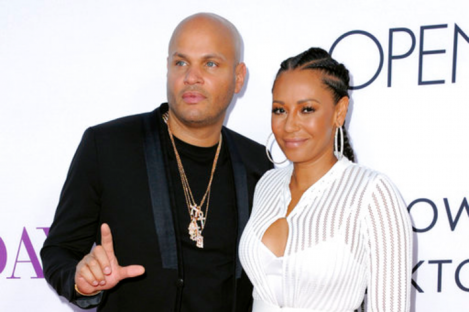 Stephen Belafonte, left, and his wife Melanie Brown.