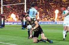 Beauden Barrett red carded as Hurricanes win 10-try treat against Waratahs