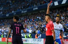 Neymar sent off as Sandro shocks former club and dents Barca's title hopes