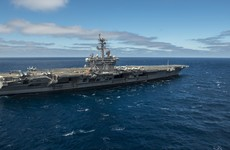 US moves Navy strike group in show of force against North Korea