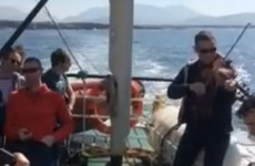 An impromptu trad session broke out on the Clare Island ferry and it's just joyous