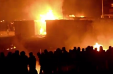 Massive arson attack guts French migrant camp