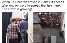 Ed Sheeran rocked up to a pub in Salthill to shoot the Galway Girl video this evening