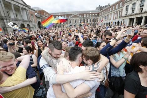 Celebration of Yes Result in Dublin