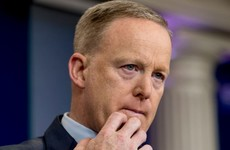 Spicer apologises over 'insensitive' Hitler remarks amid calls for him to be fired