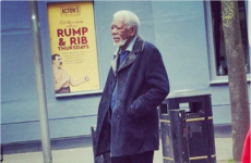 Morgan Freeman has been spotted casually wandering around Belfast