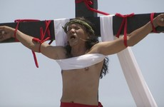 Devotees nail themselves to crosses at Philippines' annual Good Friday ceremony