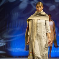 This Mayo designer has won two awards for her handwoven, luxurious 'agriculture fashion'