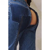 These fancy jeans zip off to show your arse cheeks, if you're into that sort of thing