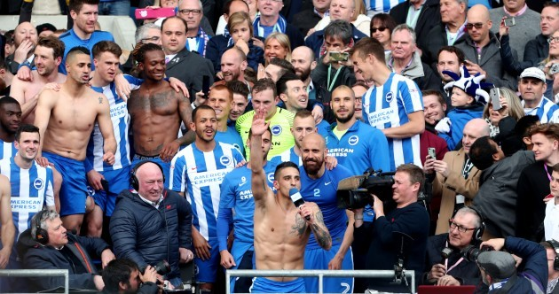 For the first time in 34 years, Brighton will play in the top-flight of English football