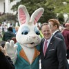Donald Trump hosts Easter Egg Roll (and Sean Spicer met his rabbit replacement)