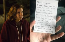 Lena Dunham shared a lovely handwritten note on the night Girls aired its last ever episode