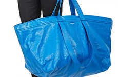 Fashion label Balenciaga is selling a big blue IKEA bag lookalike for €2000