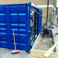 A new coffee shop is opening in an actual freight container on Thomas Street