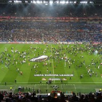 Lyon and Besiktas handed two-year suspended bans by Uefa for crowd trouble