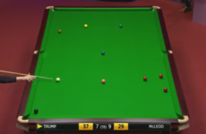 Trump hits spectacular shot at The Crucible but crashes out of first round to 1,000/1 outsider