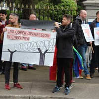 Dublin protest against anti-gay violence in Chechnya as Russia seeks to play down controversy