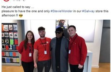 Stevie Wonder randomly called into a computer shop in Galway ahead of Rory McIlroy's wedding